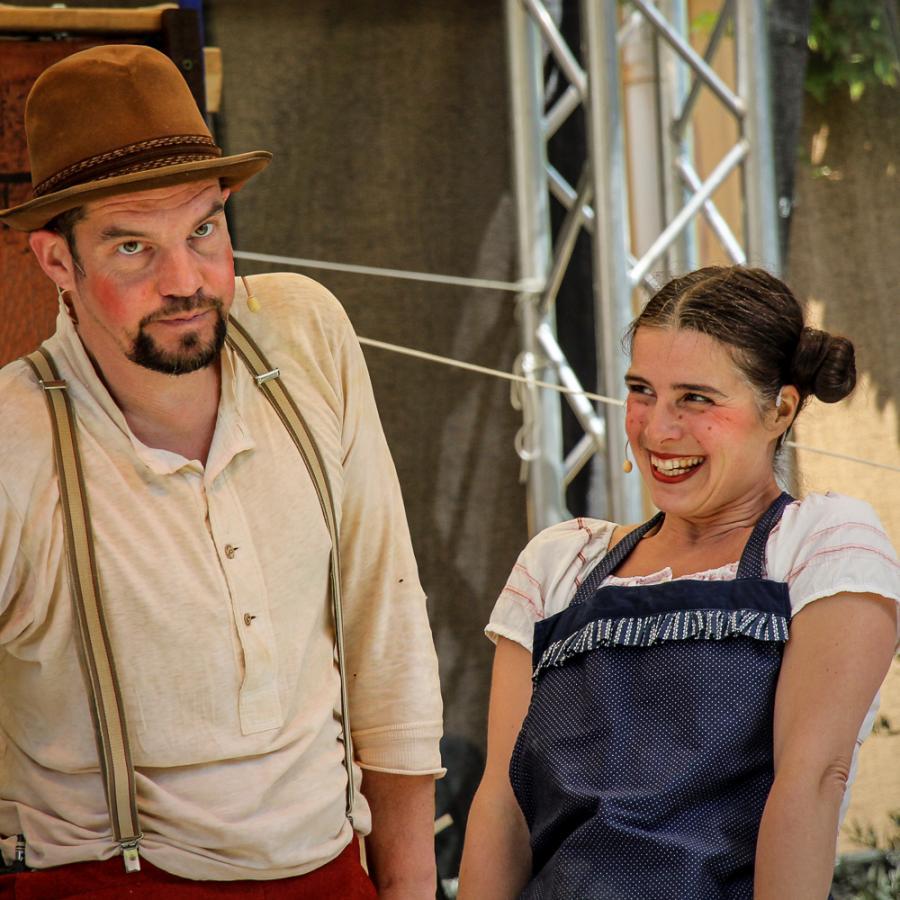 Der Frieder und das Katerlieschen Foto: Wandertheater Schwalbe