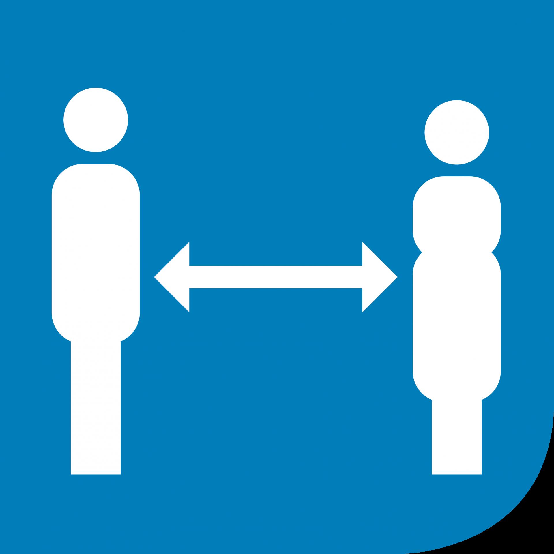 Piktogramm-Abstand