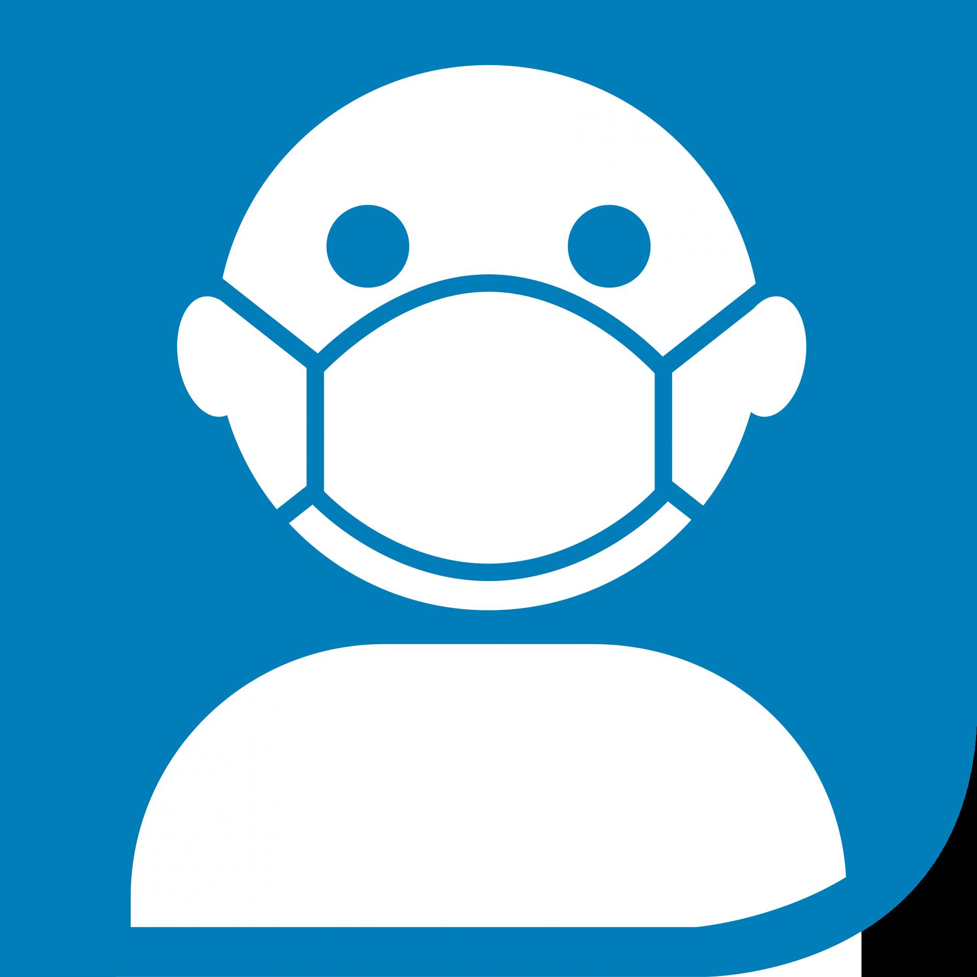 Piktogramm-Maske-tragen