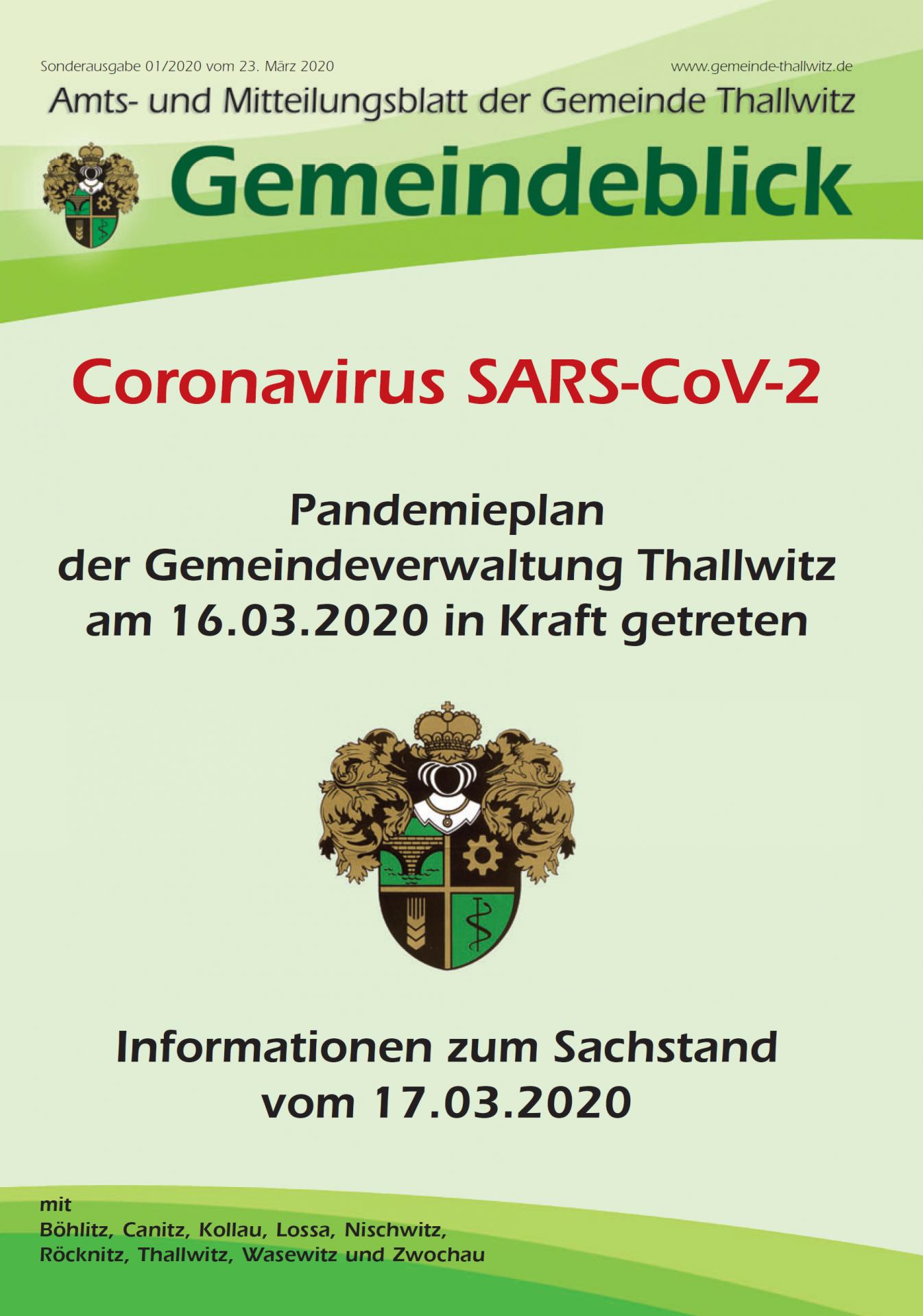 Sonderausgabe Corona 2020