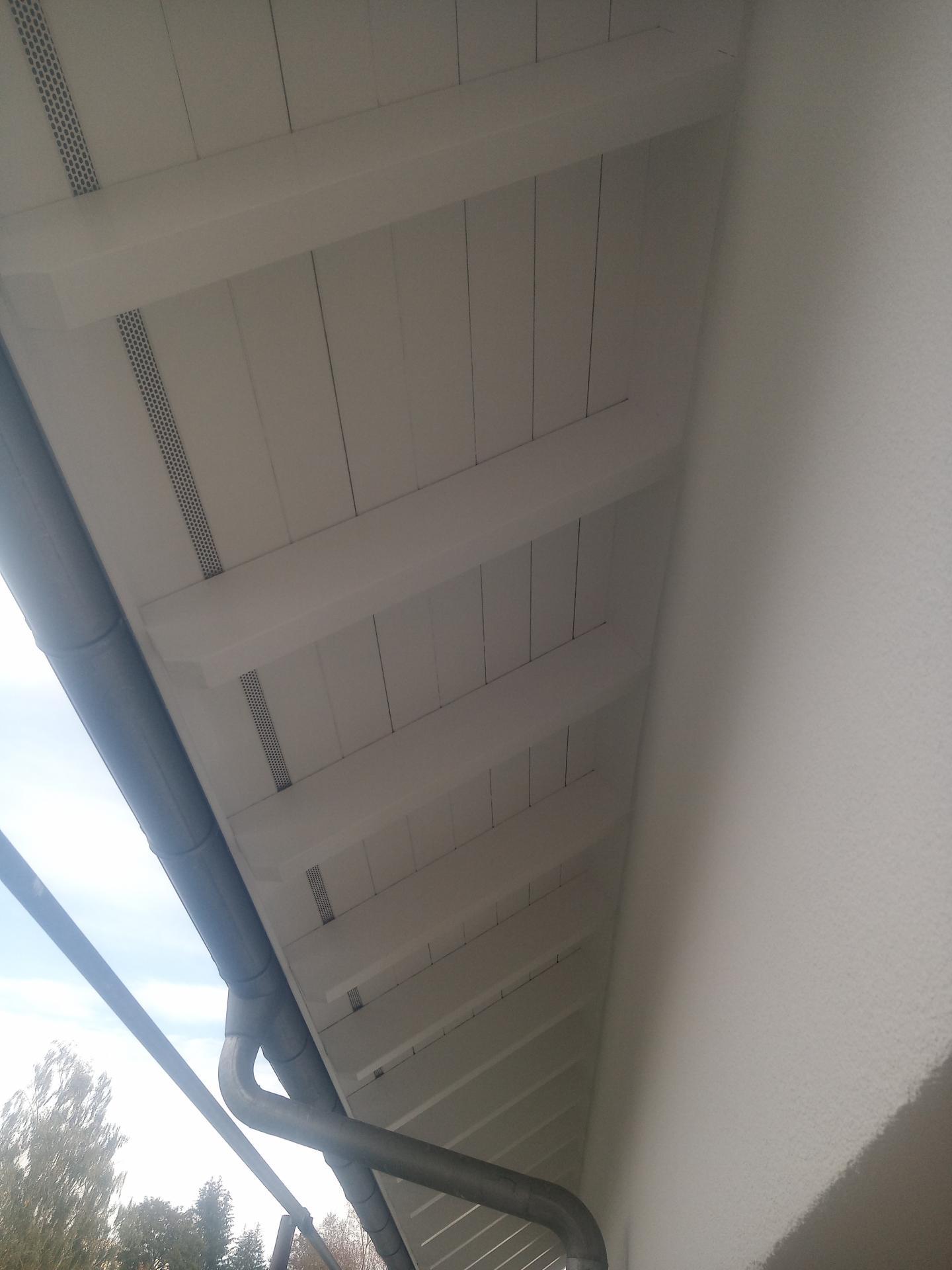 Unterdach weiß lackiert