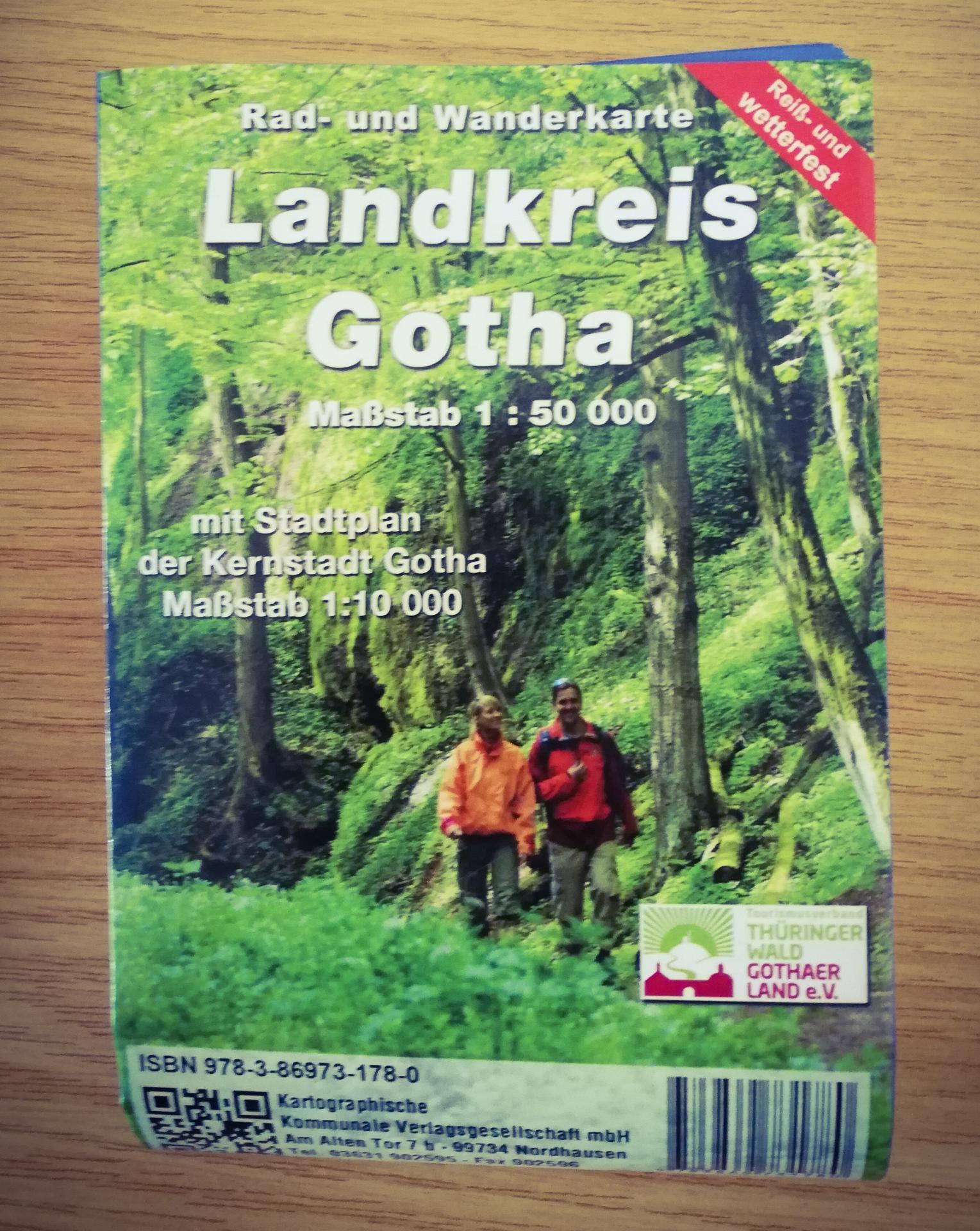 Rad- und Wanderkarte Landkreis Gotha