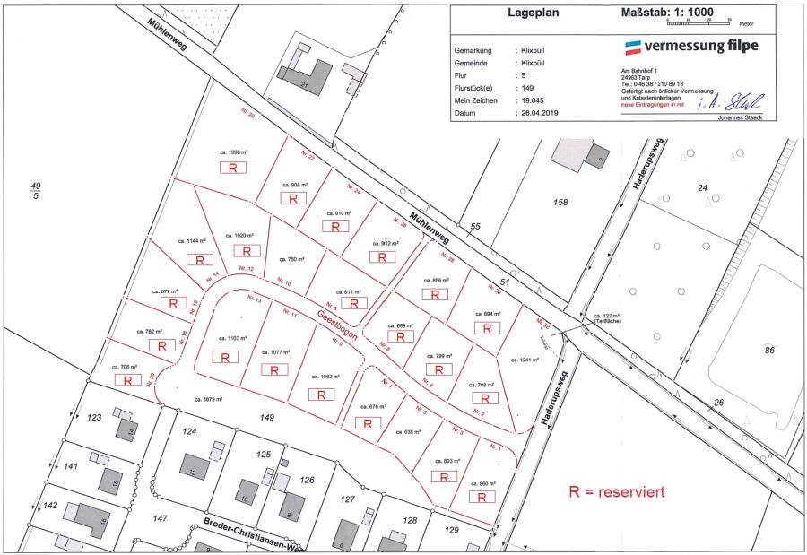 Belegungs- und Lageplan 03.12.2019