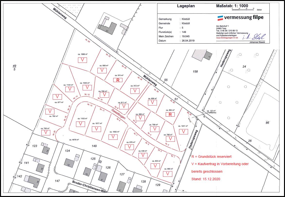 Baugebiet Geestbogen 15.12.2020