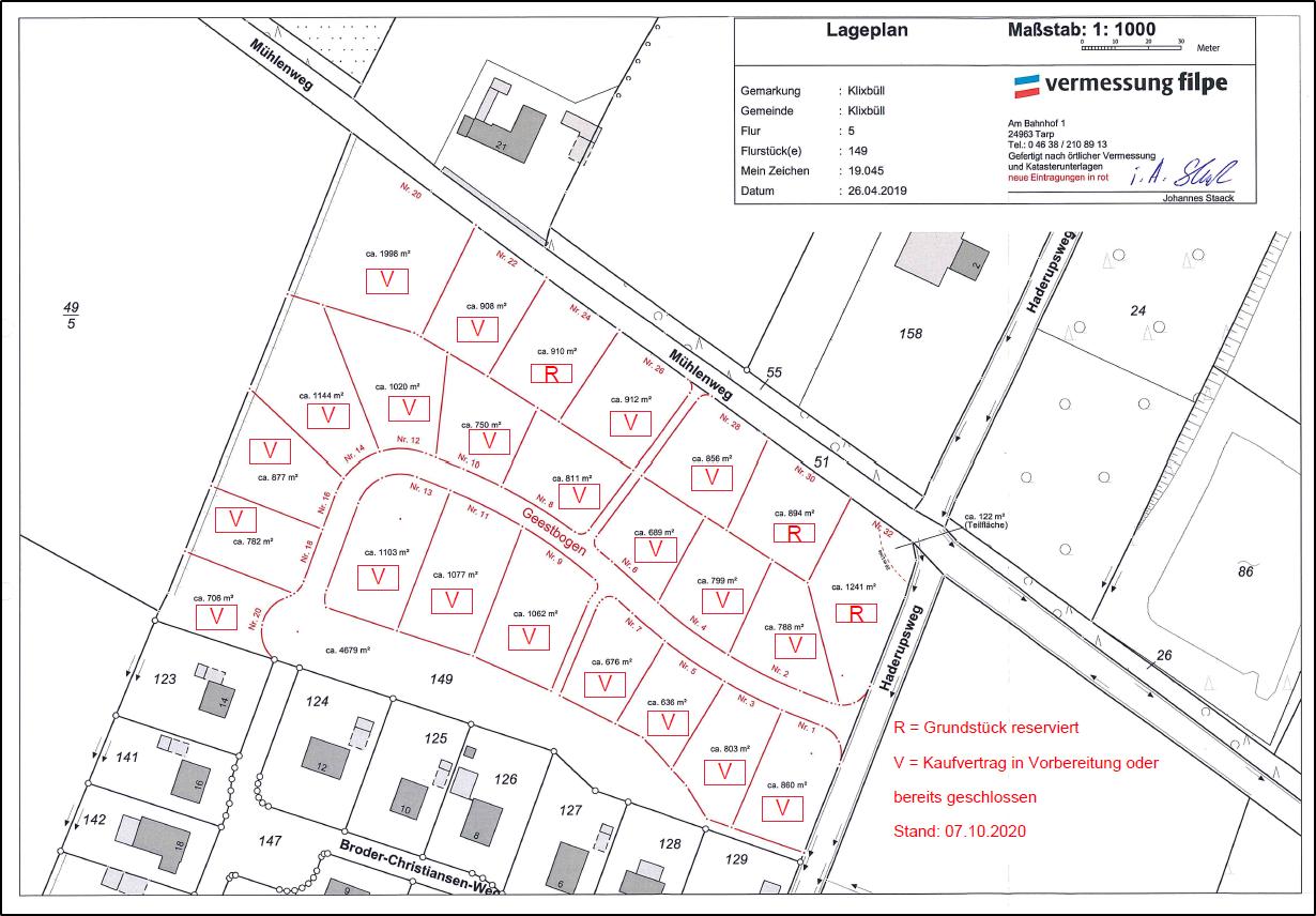 Baugebiet Geestbogen Stand: 07.10.2020