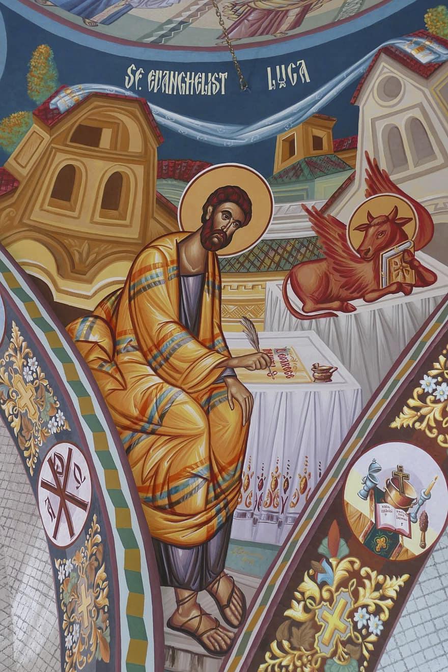 Evangelist Lukas, orthodox, Siebenbürgen - gemeinfrei