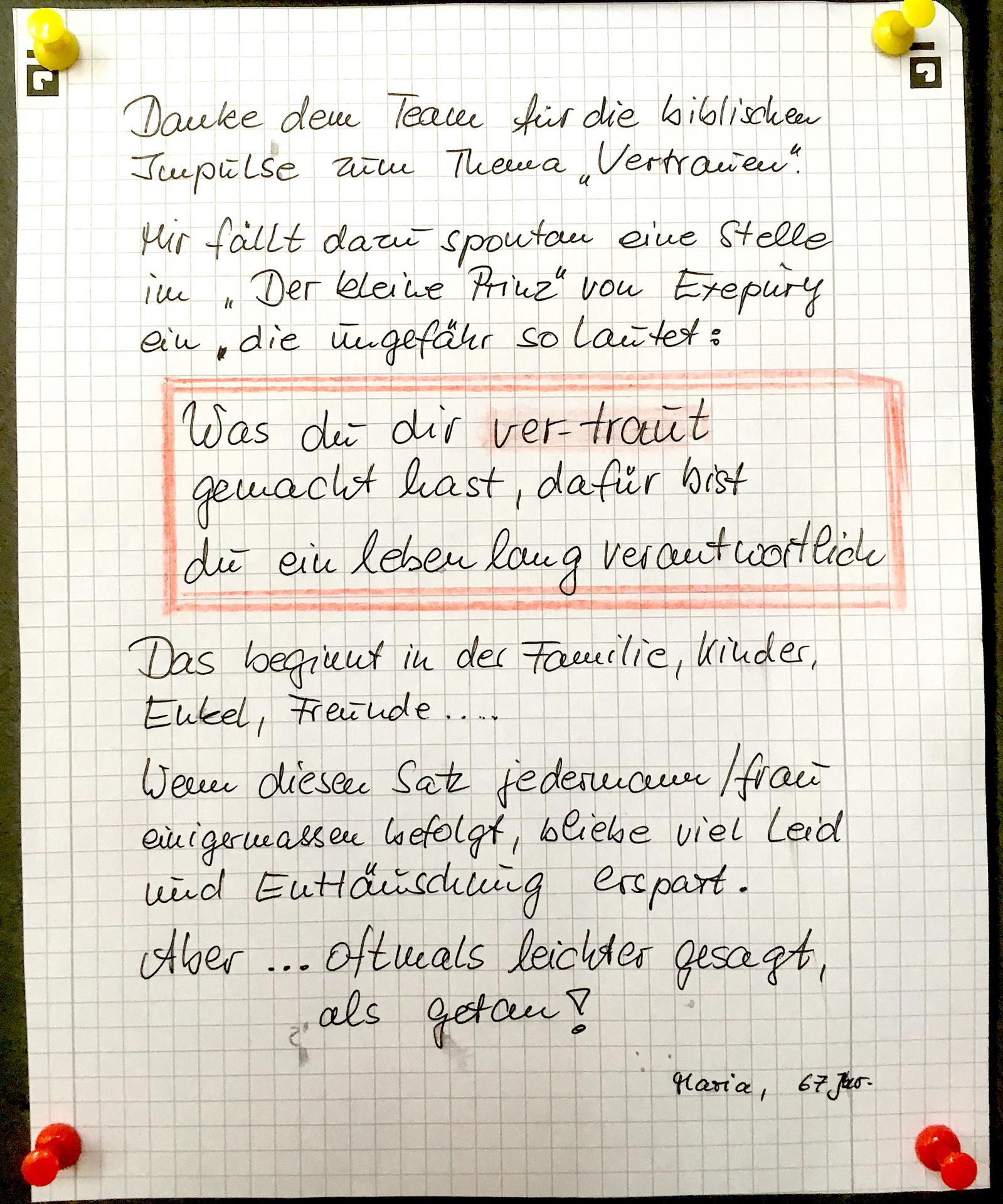 Zettel Parsberg 1