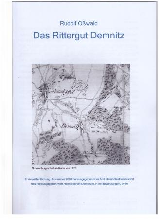 Das Rittergut Demnitz