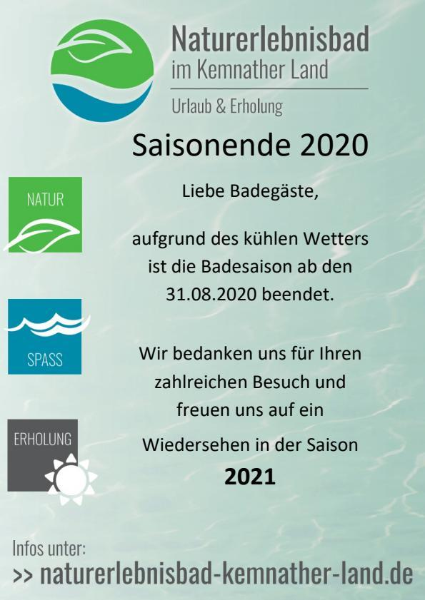 Saisonende 2020