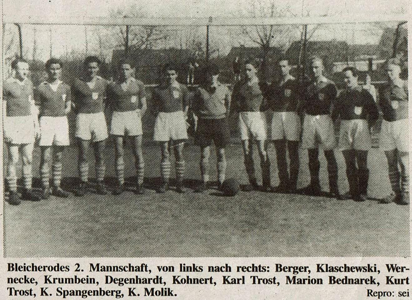 Bleicherode 2. Mannschaft 1948