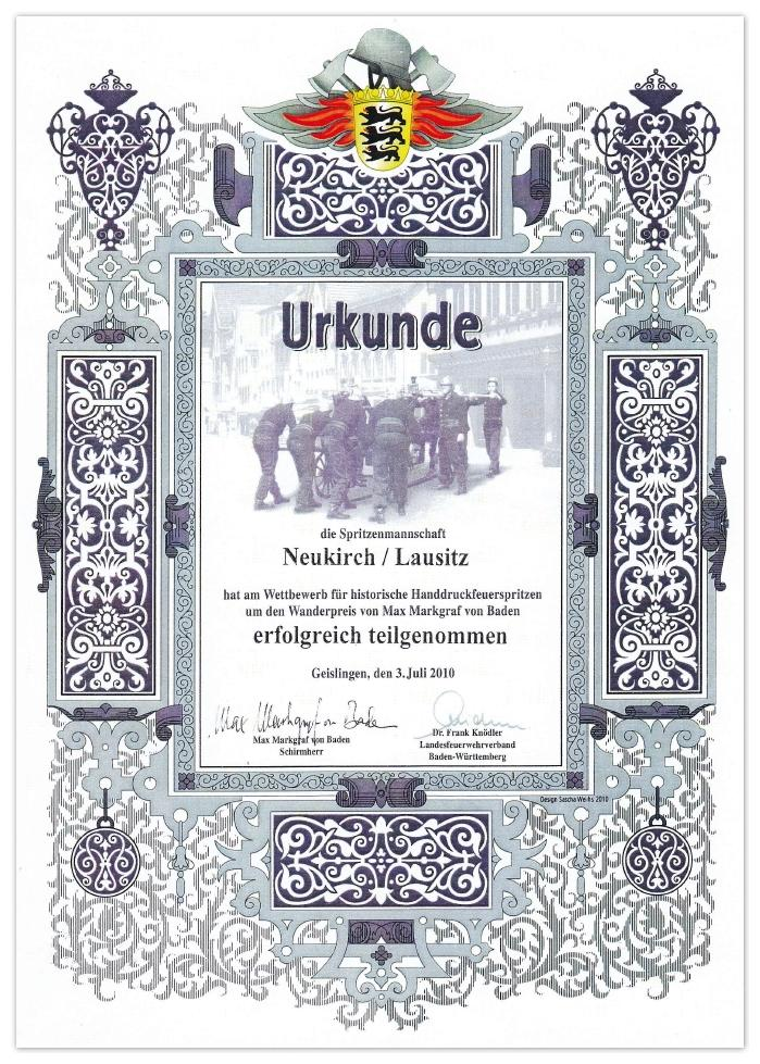 Urkunde 2010