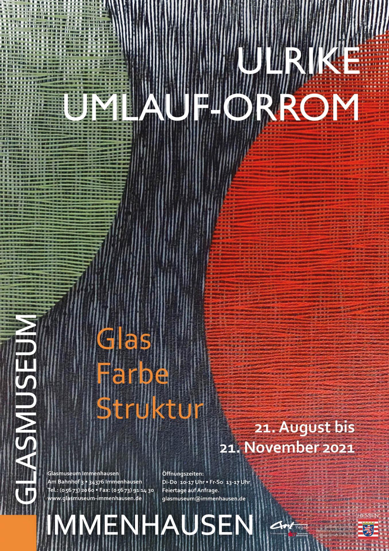 Plakat zur Ausstellung Ulrike. Umlauf-Orrom