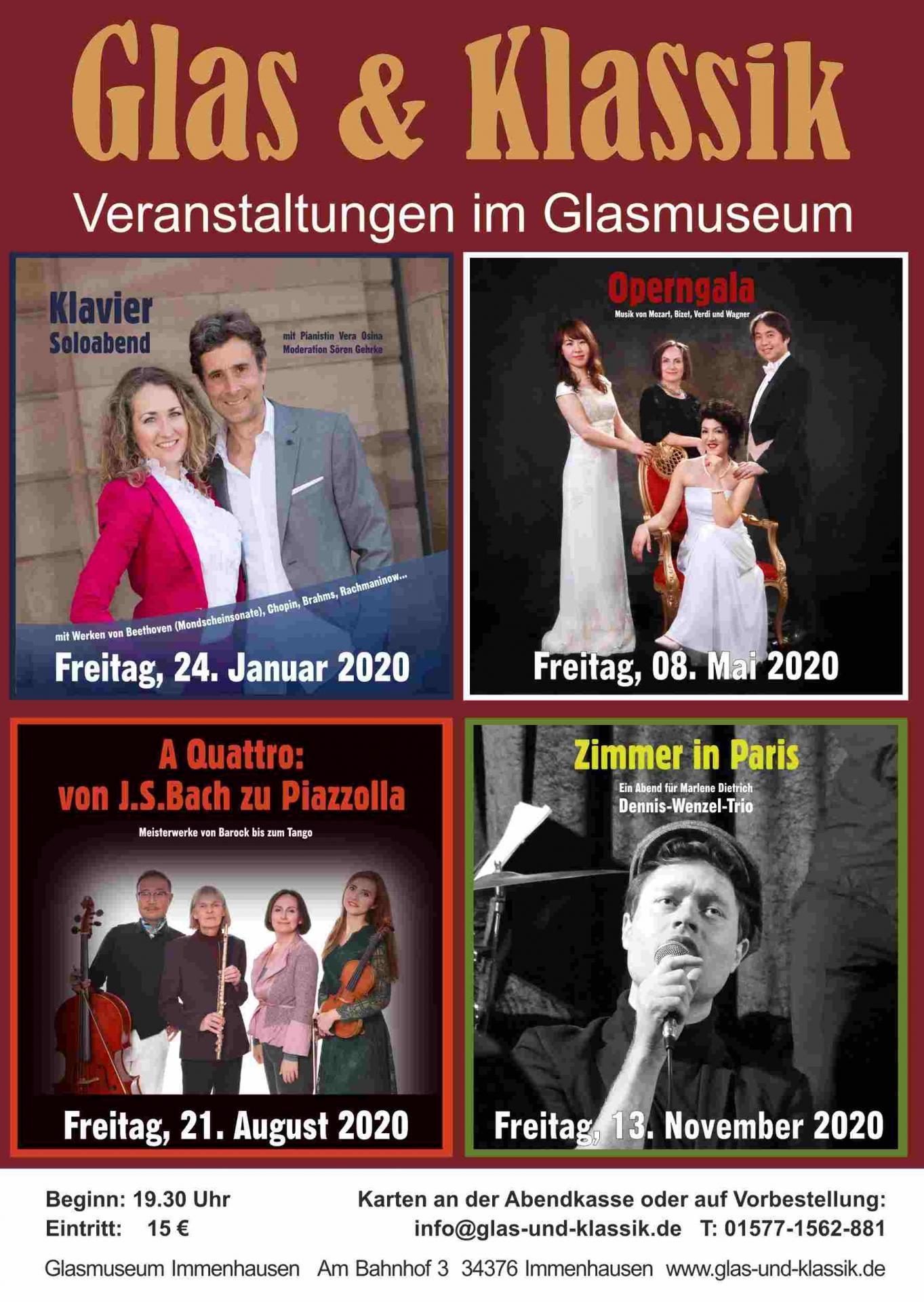 Plakat: Glas und Klassik 2020
