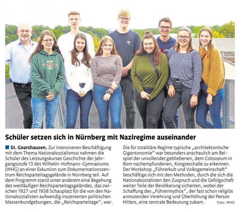 Nürnberg-Exkursion Leistungskurs Geschichte MSS 13