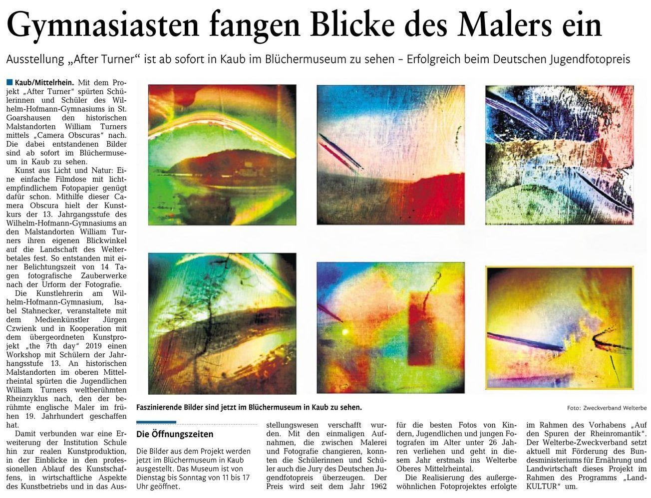 Ausstellung After Turner im Blüchermuseum in Kaub