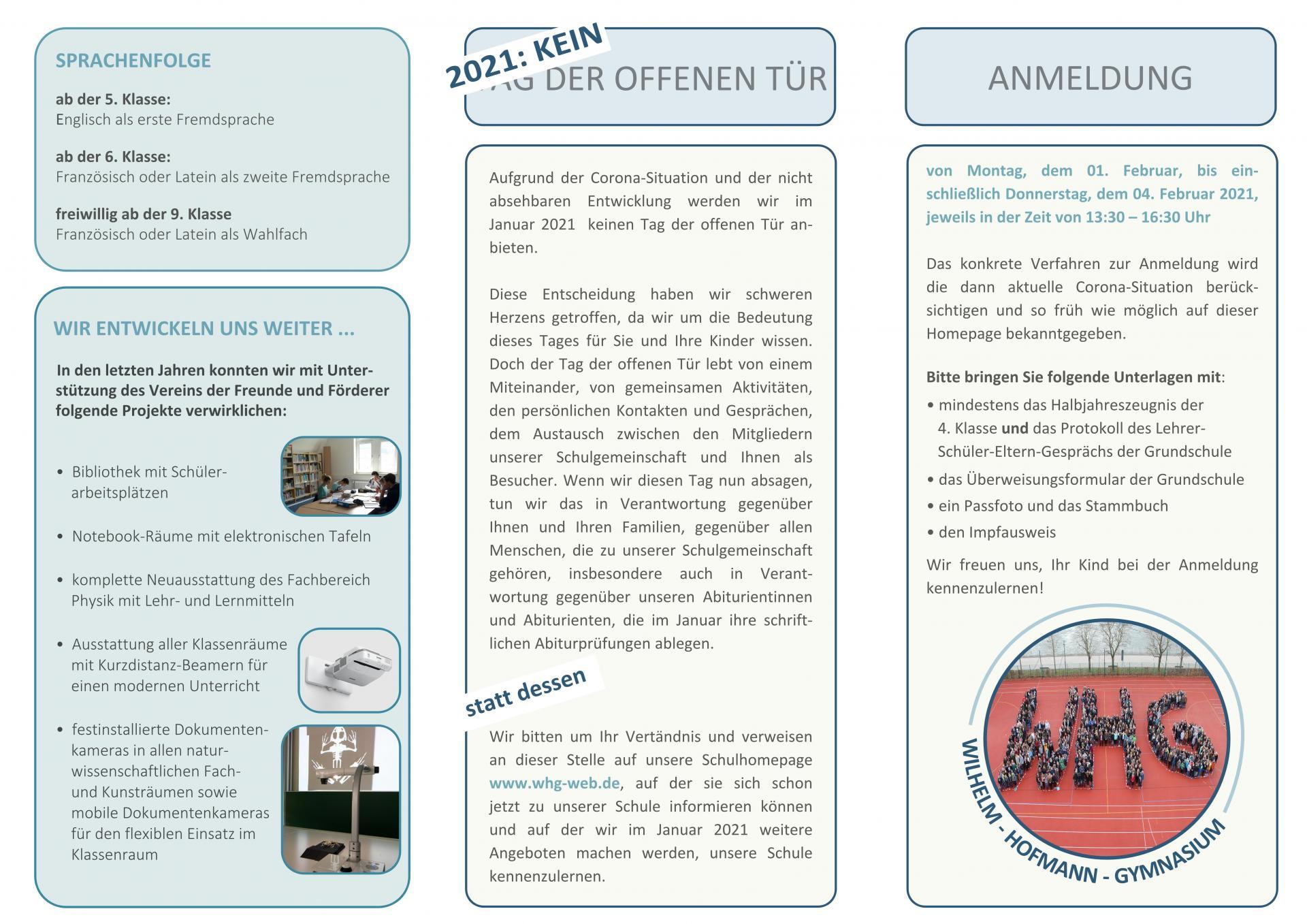 Flyer Anmeldung 5. Klassen - Seite 2