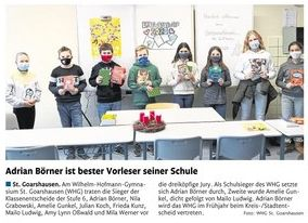 Vorlesewettbewerb Deutsch 2020