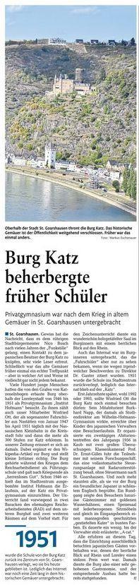 Burg Katz beherbergte Institut Hofmann