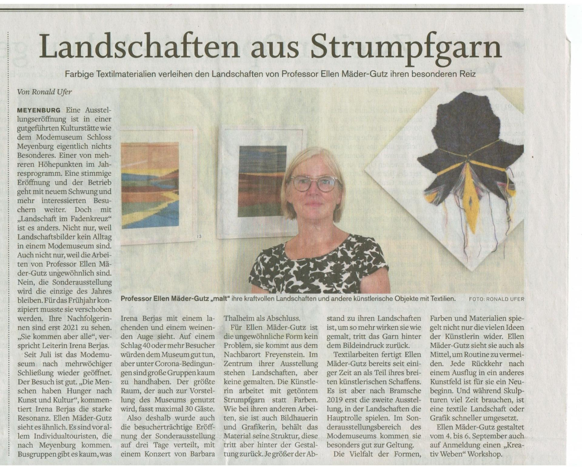 "Ellen Mäder-Gutz ""Landschaft im Fadenkreuz"""
