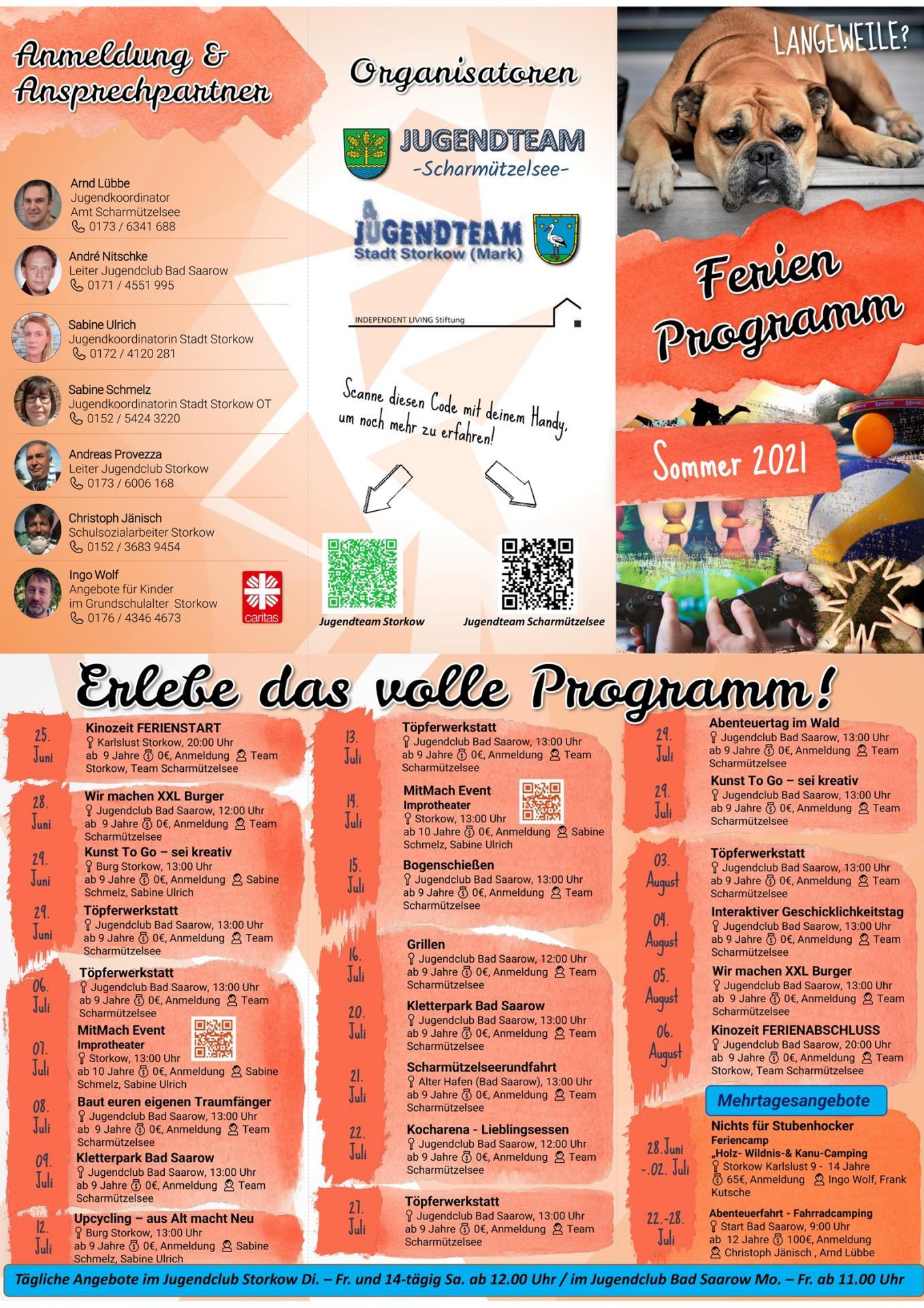 Sommerferienprogramm 2021