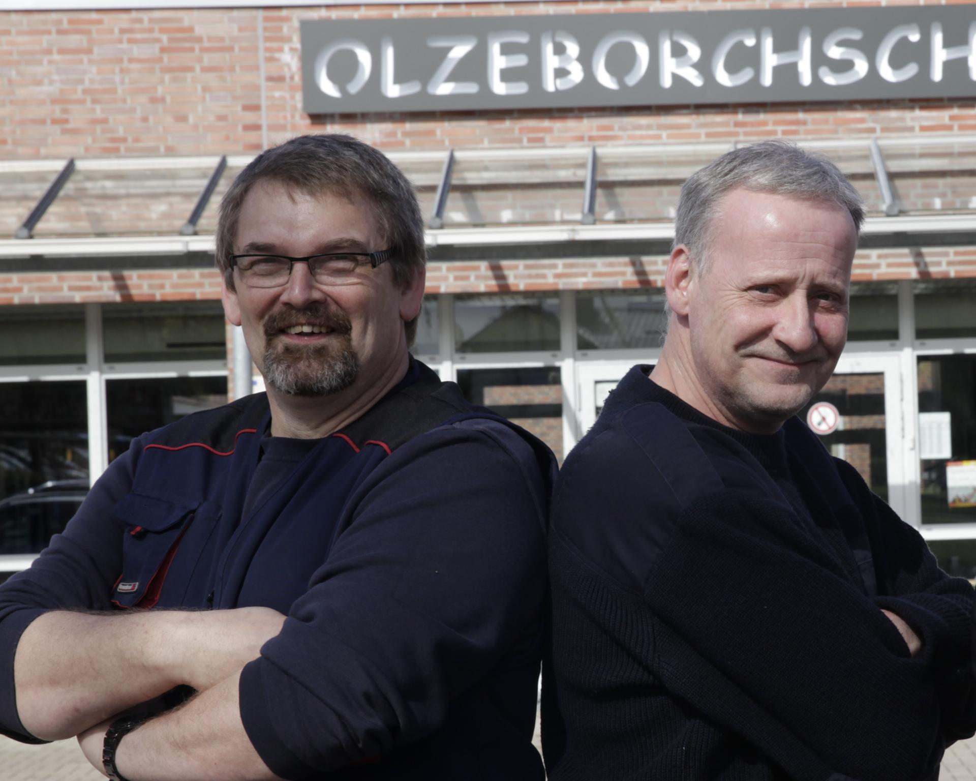 Unsere Hausmeister Herr Strunck und Herr Didt
