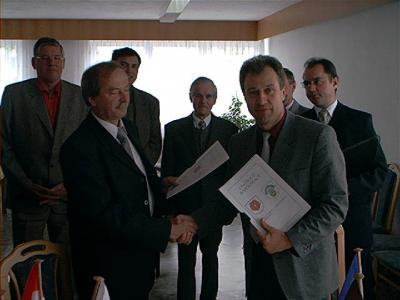 Vertragsabschluss mit der Gemeinde Dobiegniew