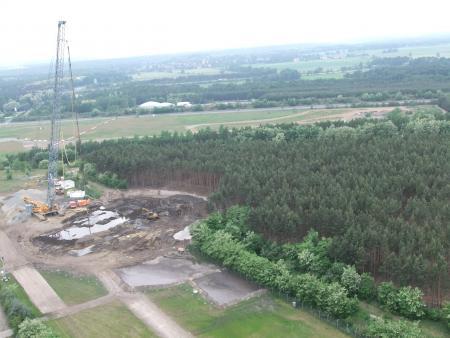 Baugrundherrichtung für die Windernergieanlage (Mai 2011)