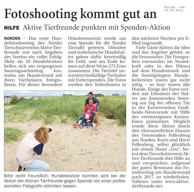 Fotoshooting am Hundestrand in Norddeich