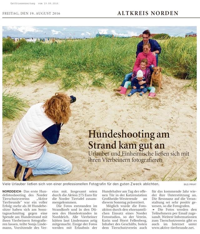Fotoshooting am Hundestrand Norddeich