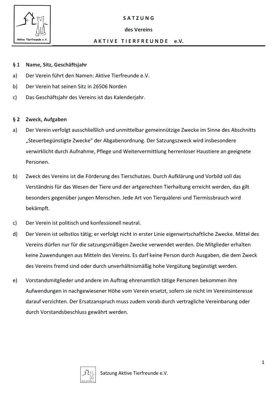 Satzung 2019 Seite 1