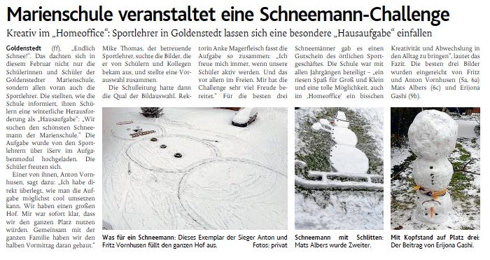 Schneemann Challenge