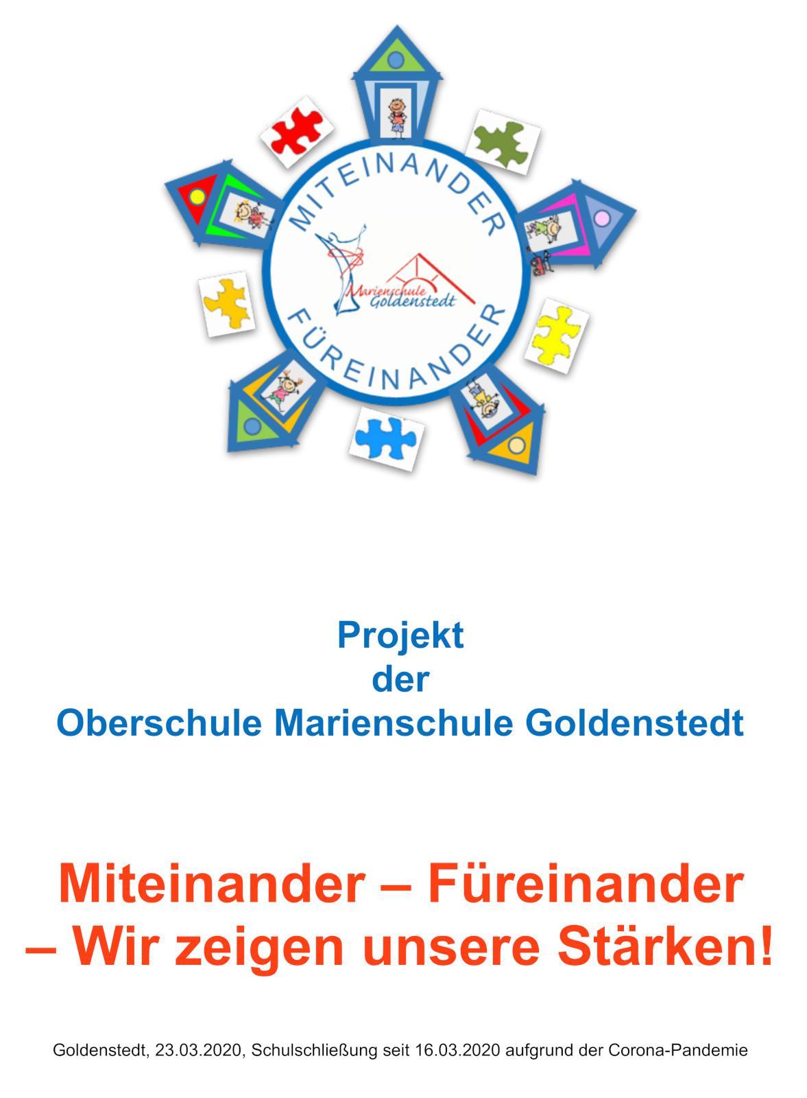 Projekt Miteinander - Füreinander - Wir zeigen unsere Stärken!