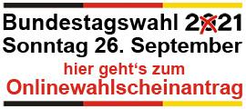 Onlinewahlscheinantrag Bundestagswahl