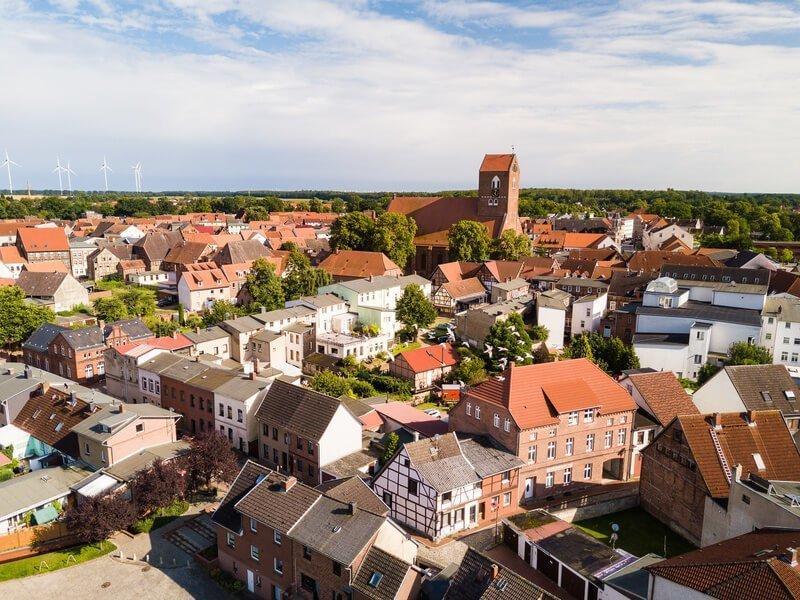 Parchim mit seiner romantischen Altstadt und den altgotischen Bauwerken