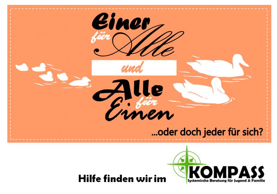 Postkarte - Einer für Alle