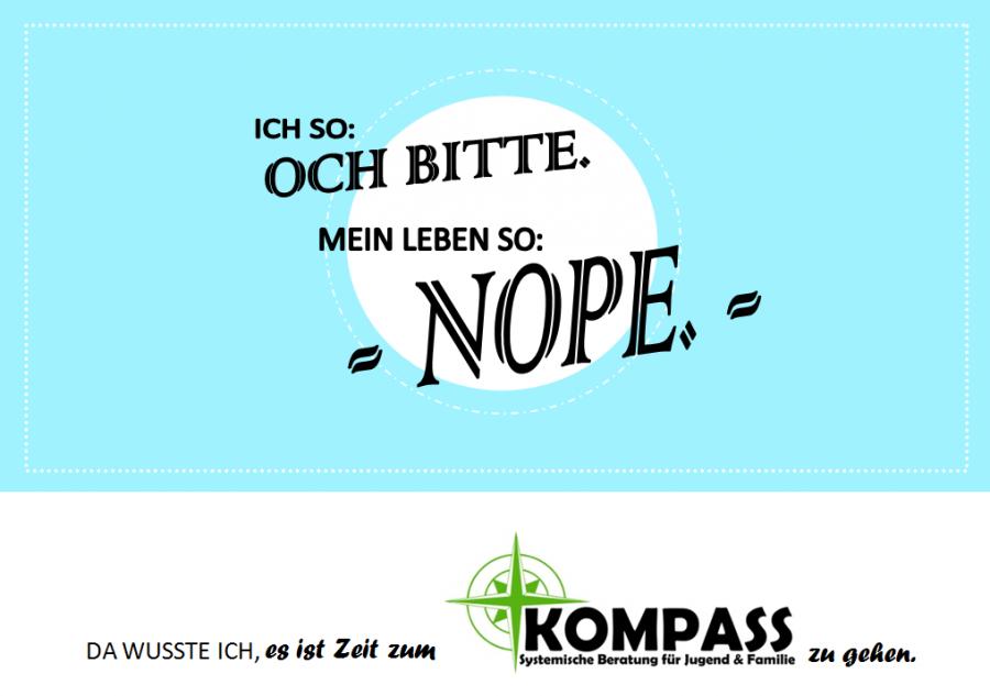 Postkarte - Nope