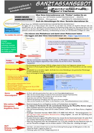 Erklärung Buchen mit MensaMax