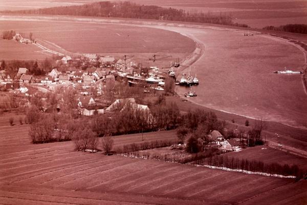 Cadenberge und Geversdorf von oben