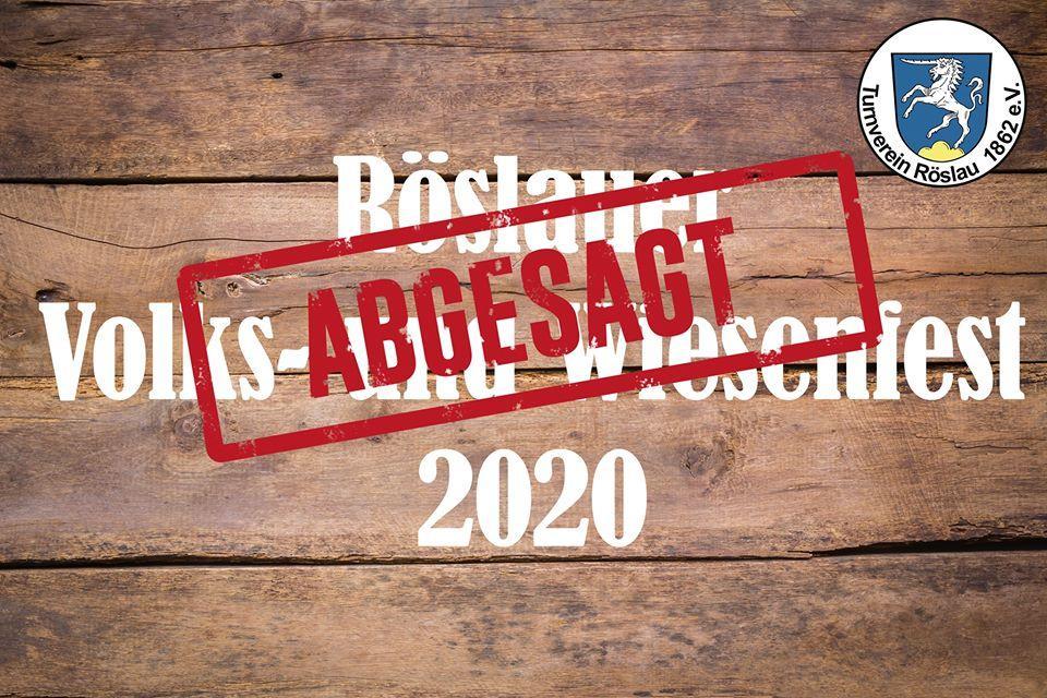 Absage Volks- und Wiesenfest 2020