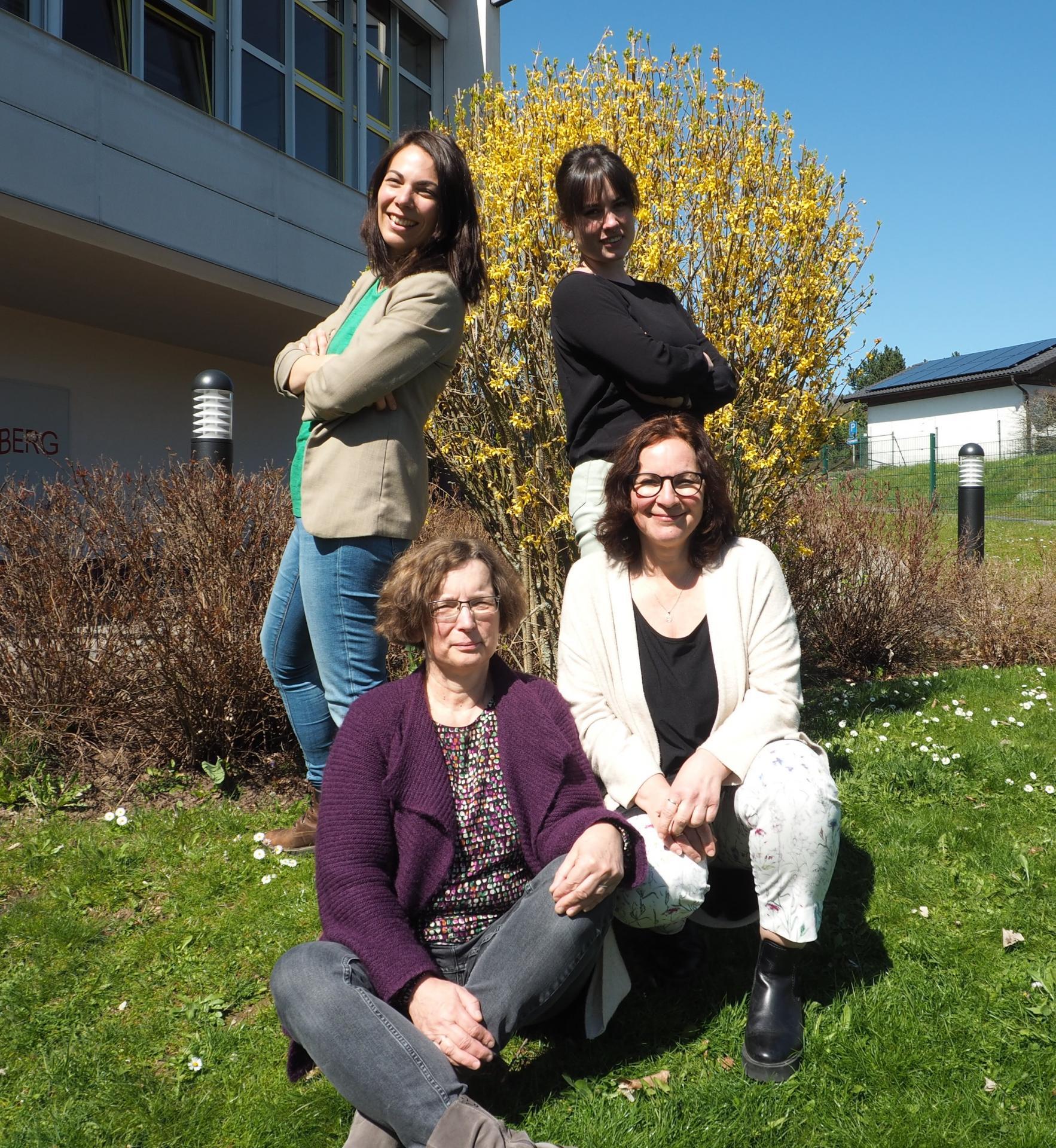 Nathalie Bach, Claudia Rentergent, Alice Dombach und Sandra Pampel