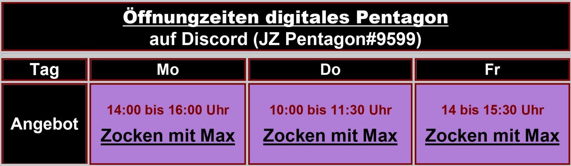 Digitale Öffnungszeiten
