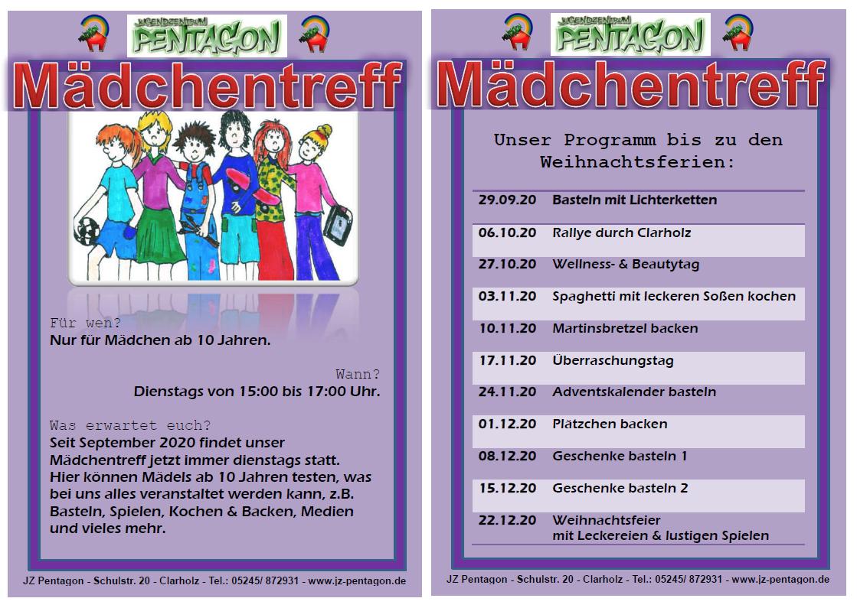 Programm Mädchentreff