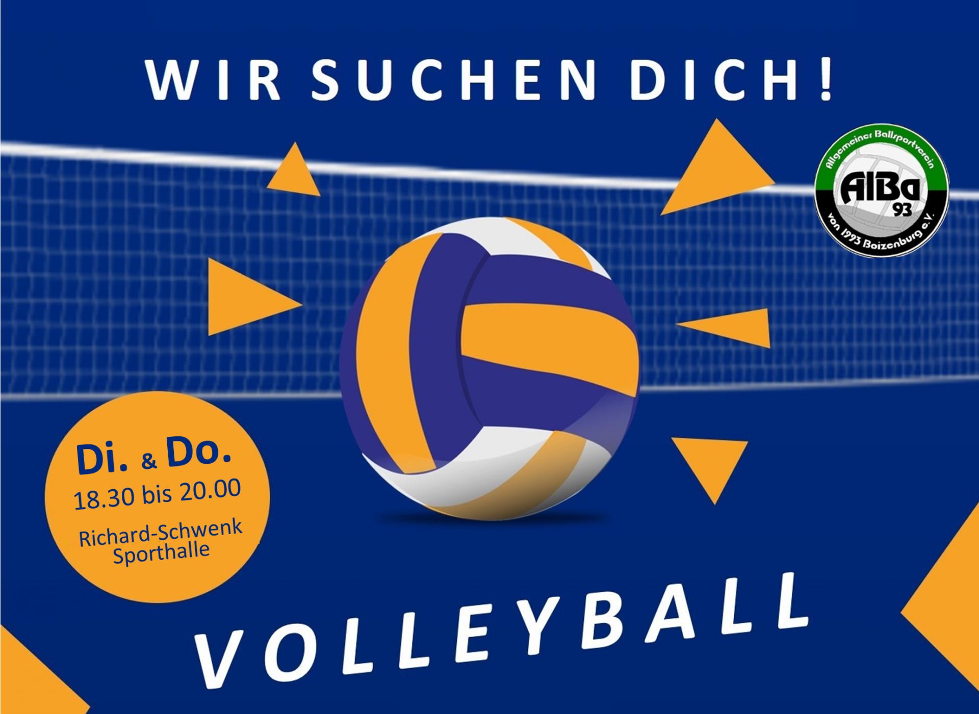 Spiel Volleyball mit uns!