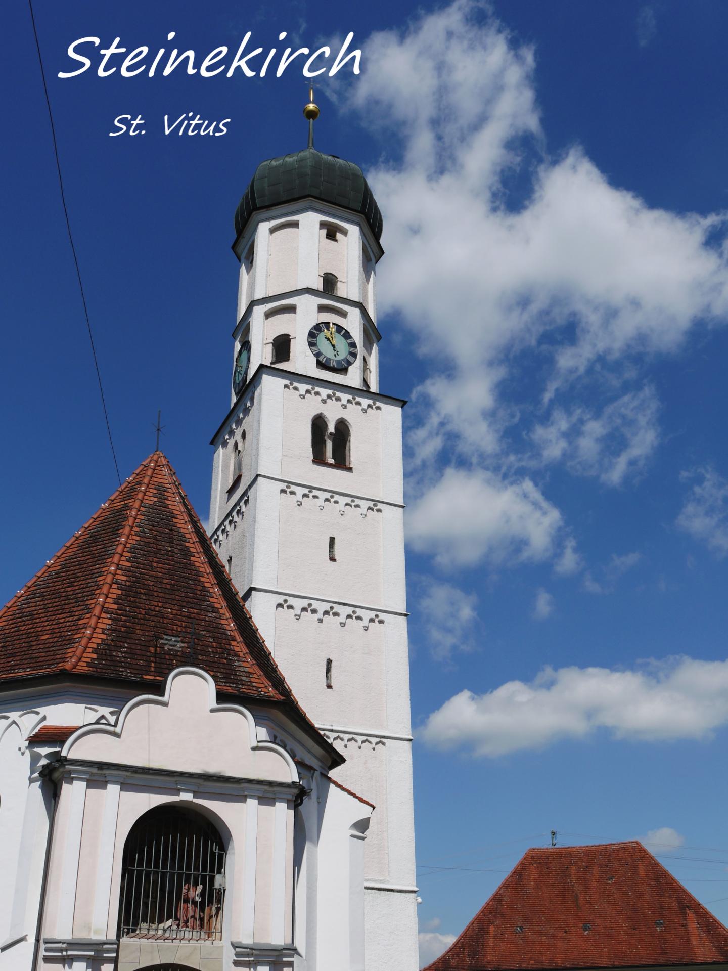 Steinekirch, Kirchturm St. Vitus; Foto: Max Trometer