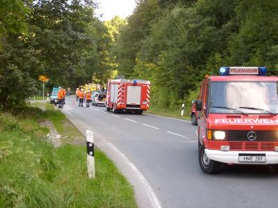 Ölspur nach Motorrad-Unfall