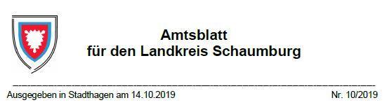 Landkreis Schaumburg Amtsblatt