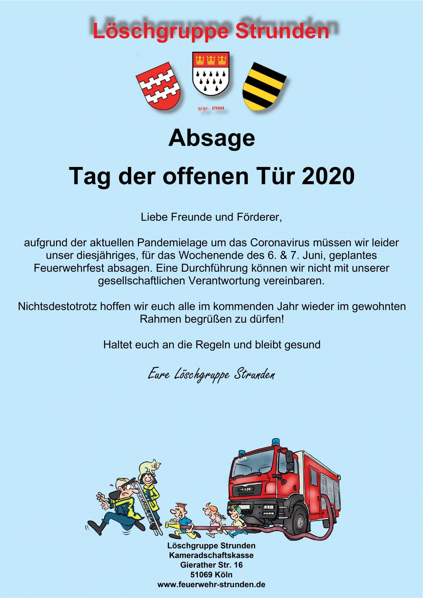 Absage TdoT 2020