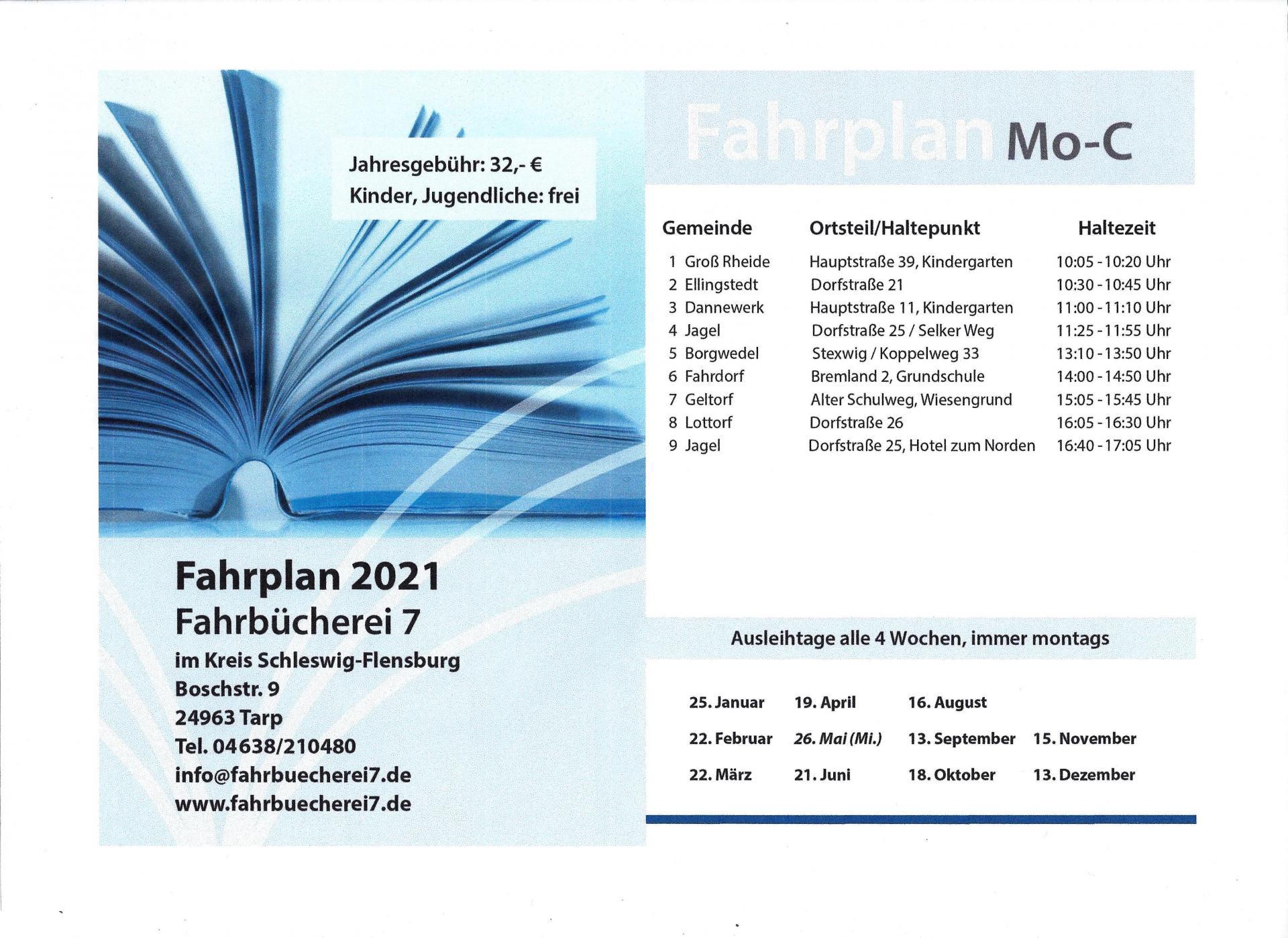 Fahrplan 2021