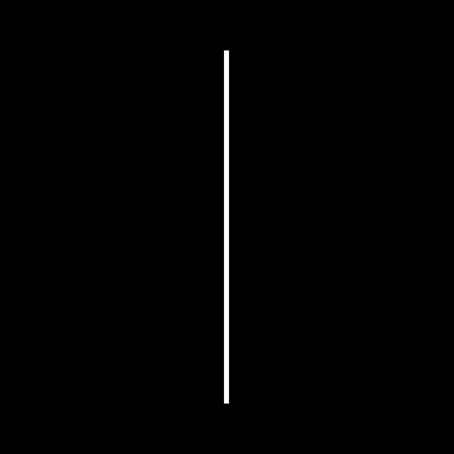 Vertikal Strich weiß