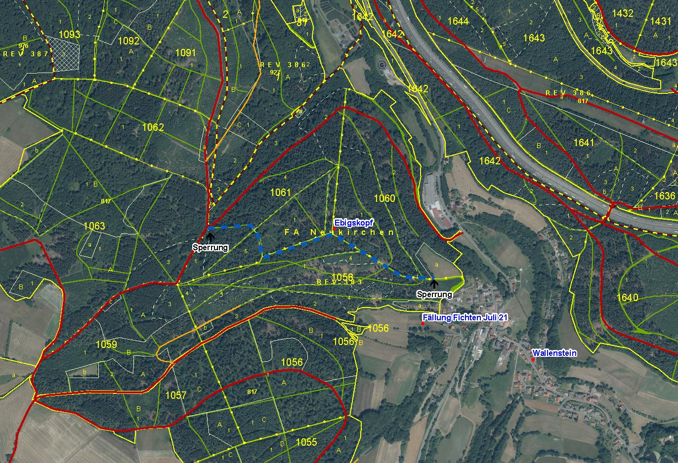 Sperrung wg. Baumfällarbeiten_VKS L-Weg_2021_Juli